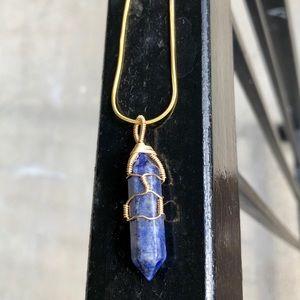 Lapis Lazuli Hexagonal Point Handmade Necklace